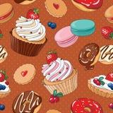Słodkich deserów bezszwowy wzór Obrazy Stock