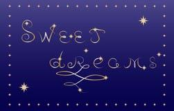 Słodkich sen karta Obraz Royalty Free