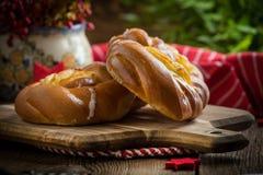 Słodkie babeczki z serem Fotografia Royalty Free
