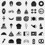 S?odkie kalorie ikon ustawia?, prosty styl ilustracji