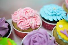 Słodkie pastelowe babeczki Obrazy Stock