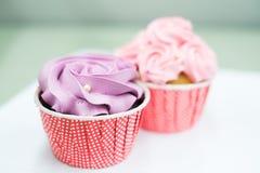 Słodkie pastelowe babeczki Zdjęcie Royalty Free