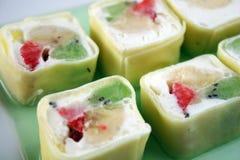 Słodkiej rolki deser Obrazy Royalty Free