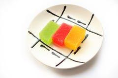 słodycze, owoce Zdjęcia Royalty Free