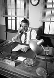 1950s office: director on the phone Stockfotos