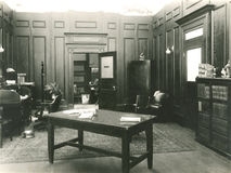 1920s office Part 1 Stock Image
