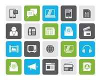 Connection, communication and technology icons. Vector icon set royalty free illustration