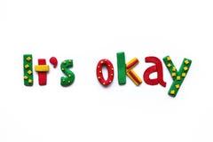 It's okay Stock Photo