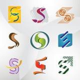 σύνολο λογότυπων s επιστ&om Στοκ Εικόνα