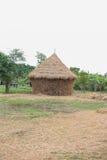 Słoma dom, wioski buda obrazy stock
