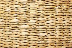 Słomiana koszykowa tekstura Zdjęcie Stock