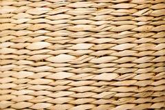 Słomiana koszykowa tekstura Fotografia Stock