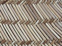 Słomiana tekstura w diagonalnym wzorze fotografia stock