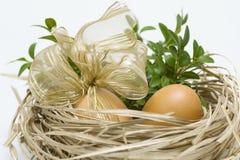 słomiani Easter jajka Obraz Stock