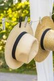 Słomiani kapelusze Obraz Royalty Free