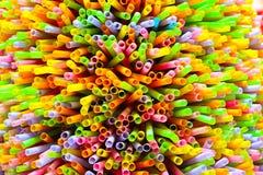 Słomiany Colourfull Zdjęcie Stock