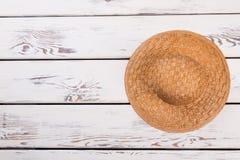 Słomiany kapelusz i inkasowy zakup Obraz Stock