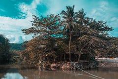 Haad Than Sadet Beach on Koh Phangan island. It`s one of the best beaches on koh Phangan island. Really nice landscape stock images