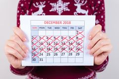 It`s one day to weekend christmas and one week seven days to new royalty free stock photo