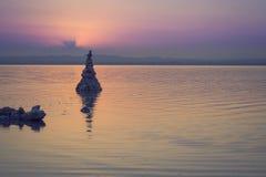 Słone jeziora Torrevieja, Walencja, Hiszpania Fotografia Stock