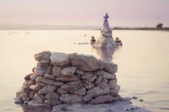 Słone jeziora Torrevieja, Walencja, Hiszpania Zdjęcia Royalty Free