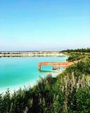 Słone jezioro Obrazy Stock