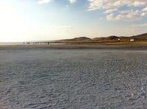 Słone jezioro w Turcja Obraz Stock