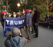 Trump, Make America Great Again!, Washington Square Park, NYC, NY, USA Royalty Free Stock Photo