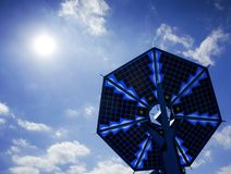 Słoneczna bateria obrazy royalty free