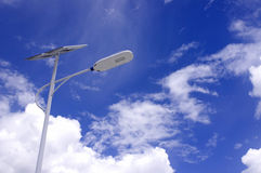 Słoneczna latarnia uliczna fotografia stock