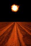 Słoneczna magnesowa burza Zdjęcia Stock