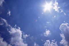 słoneczne niebo Fotografia Royalty Free