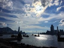 słoneczne niebo Zdjęcie Stock