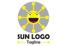 Słonecznego domu logo Fotografia Royalty Free