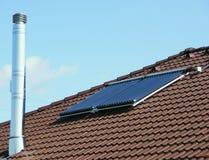 słoneczni ekologiczni panel Zdjęcia Royalty Free