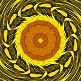 S?onecznika t?a s?o?ca deseniowy kwiat kalejdoskopowy kalamkari ilustracji