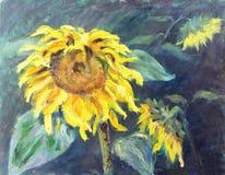 Słoneczniki, obraz olejny Zdjęcie Royalty Free