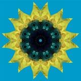 Słonecznikowa krystaliczna ilustracja Obraz Stock