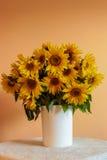 Słonecznikowa waza Obrazy Royalty Free