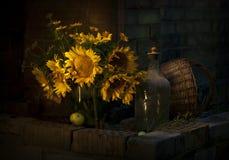 Słonecznikowy bukiet Fotografia Royalty Free