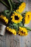 Słonecznikowy bukiet Zdjęcie Royalty Free