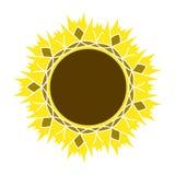 Słonecznikowy ogrodnictwo loga symbol, ikony mieszkania stylu projekt, wektor Obrazy Stock