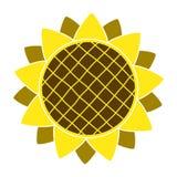 Słonecznikowy ogrodnictwo loga symbol, ikony mieszkania stylu projekt, wektor Fotografia Stock