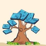 Słoneczny drzewo Zdjęcia Stock