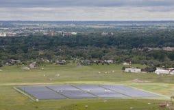 słoneczny energetyczny gospodarstwo rolne Obraz Royalty Free