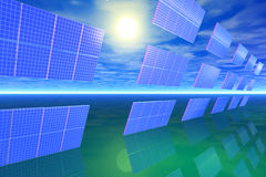 słoneczny power1 Zdjęcie Stock