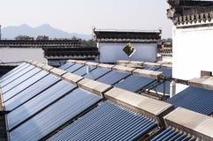 Słoneczny wodnego nagrzewacza system Fotografia Stock