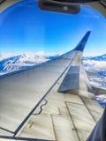 słonego jeziora miasta anteny krajobraz podczas zimy Zdjęcie Stock