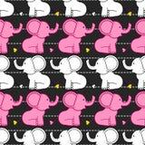 słonia bezszwowy deseniowy Zdjęcie Royalty Free