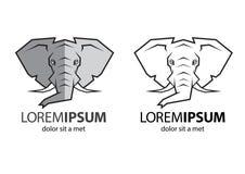 Słonia kierowniczy logo Obraz Stock